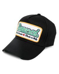 DSquared² Script Logo Cap Black/green for men