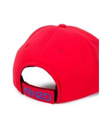 KENZO Red Tiger Embroided Cap for men