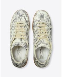 "Maison Margiela - White Dollar-print ""replica"" Sneakers - Lyst"