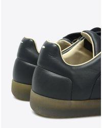 Maison Margiela Gray Calfskin 'future Low Top' Sneakers for men