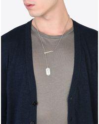 Maison Margiela Metallic Price Tag Necklace for men