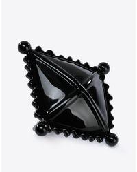 Maison Margiela - Black Diamond-shaped Ring - Lyst
