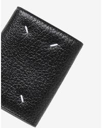 Portafoglio a fisarmonica in pelle di Maison Margiela in Black