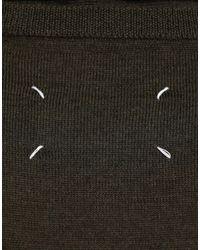 Maglione senza maniche in lana con sciarpa di Maison Margiela in Green da Uomo