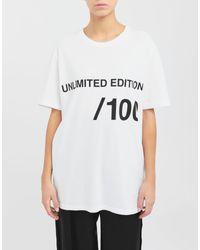 T-shirt Unlimited Edition di MM6 by Maison Martin Margiela in White