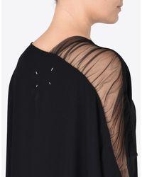 Maison Margiela Black Cady Cut-out Dress