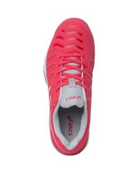 Asics - Pink Gel Challenger 11 Tennis Shoes Rouge Red/white/glacier Grey - Lyst