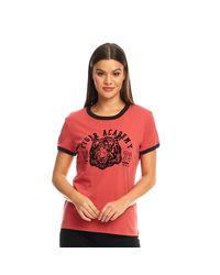 Brave Soul Red Atla T-Shirt Verwaschenes Rot