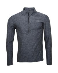 New Balance - Heathered Space Dye Reflective 1/2 Zip Running Top Black for Men - Lyst
