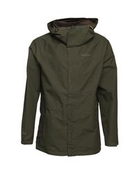 Craghoppers Ashton Gore-tex Long Waterproof Jacket Evergreen for men