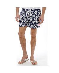 U.S. POLO ASSN. Hibiscus Print Swim Shorts Medieval Blue for men