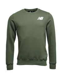New Balance Fleece Crew Army Green for men