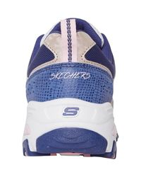 SKECHERS Baskets D'Lites Fan Love Ecru Skechers en coloris Blue