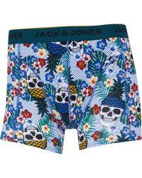 Jack & Jones Funny Skulls Boxershorts Mehrfarbig in Blue für Herren