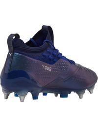 PUMA One 1 Leder MX SG Fußballschuhe Blau in Blue für Herren