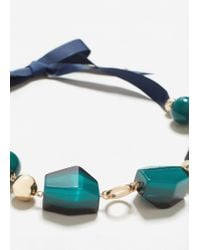 Mango - Green Mixed Piece Necklace - Lyst