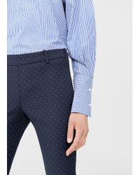 Mango - Blue Trousers - Lyst