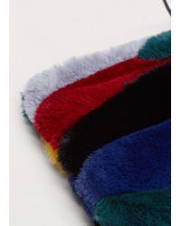 Violeta by Mango - Blue Combined Faux-fur Bag - Lyst