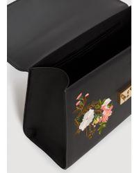 Mango Black Floral Embroidery Bag