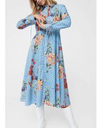 Mango   Blue Dress   Lyst
