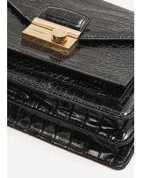Mango - Black Croc-effect Cross Body Bag - Lyst