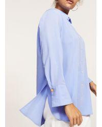 Violeta by Mango   Blue Buttoned Flowy Shirt   Lyst