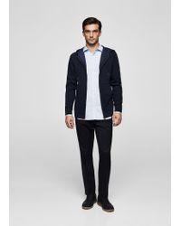 Mango - Blue Regular-fit Printed Cotton Shirt for Men - Lyst