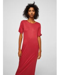 Mango Multicolor Ruched Detail Dress