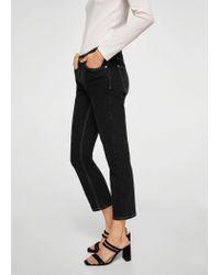 Mango - Black Sayana Straight Jeans - Lyst