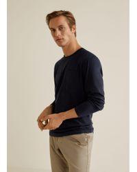 Mango Blue Organic Cotton T-shirt for men