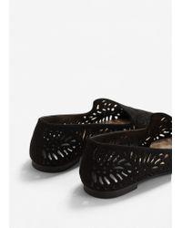Mango | Black Die-cut Design Shoes | Lyst