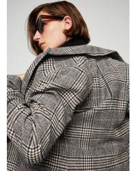 Mango Brown Check Structured Blazer