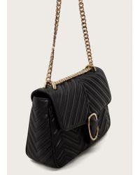 Violeta by Mango | Black Chain Leather Bag | Lyst