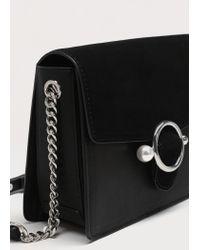 Violeta by Mango - Black Pearl-effect Buckle Cross-body Bag - Lyst