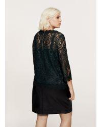 Violeta by Mango | Green Lace Blouse | Lyst