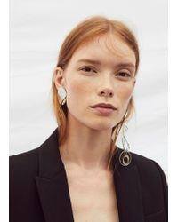 Mango - Metallic Mixed Asymmetric Earrings - Lyst
