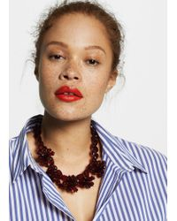 Violeta by Mango - Red Flower Beads Necklace - Lyst