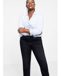 Violeta by Mango Blue Straight-fit Theresa Jeans
