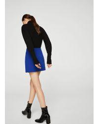 Mango - Blue Eyelets Skirt - Lyst