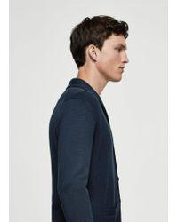 Mango - Blue Pocket Cotton Cardigan for Men - Lyst