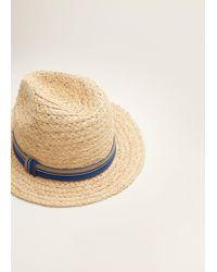 Mango Multicolor Straw Fedora Hat for men