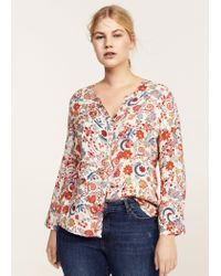 Violeta by Mango - Red Blouse - Lyst