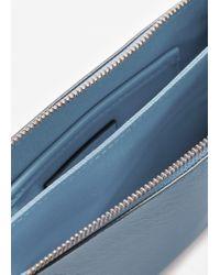 Mango - Blue Saffiano-effect Cross-body Bag - Lyst