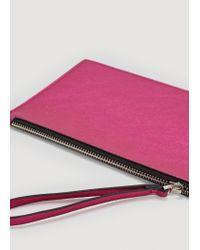 Mango - Purple Snake-effect Cosmetic Bag - Lyst