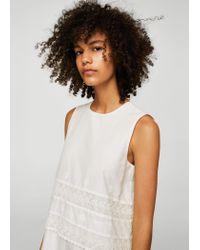 Mango White Dress