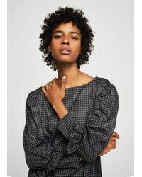 Mango | Gray Ruffled Sleeve Dress | Lyst