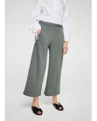 Mango - Green Pocket Cotton Trousers - Lyst