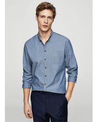 Mango - Blue Shirt for Men - Lyst
