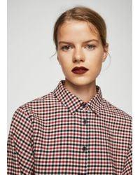 Mango Red Bow Check Shirt