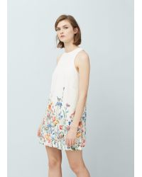 Lyst mango floral print dress in white womens white floral print dress mightylinksfo